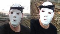 作死男铁路上卧轨自拍