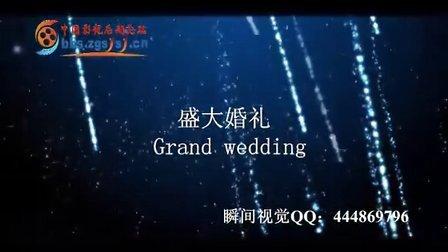 最新愛情夢幻星空婚禮片頭模板