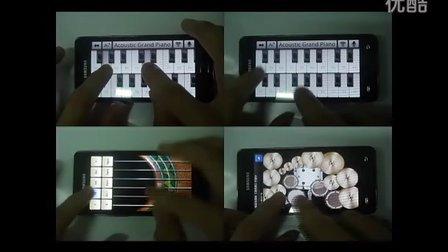 老视频了~用手机上的音乐软件弹奏的卡农