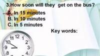 """英語微課視頻 Time calculation in listening-2014年市""""一師一優課、一課一名師""""評比活動一等獎"""