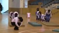初中八年級體育《遠撐前滾翻》教學視頻,高中體育名師工作室教學視頻